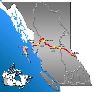 Carte Highway of Tears