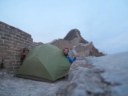 Alice et Balou campent sur la Muraille de Chine