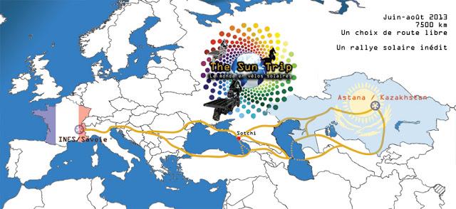 Carte du monde Suntrip