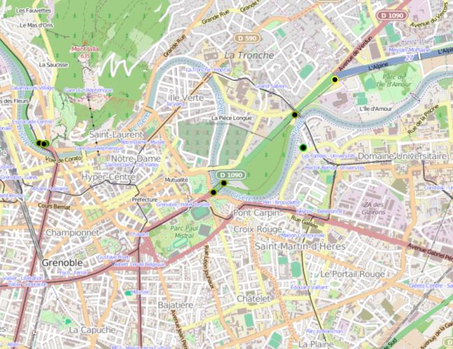 Garde des spots d'auto-stop de Grenoble