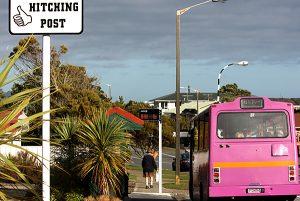 Hitching posts – Nouvelle-Zélande – Panneaux d'auto-stop