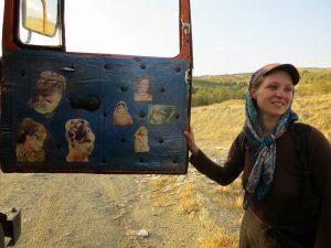 Rebecca auto-stop Iran