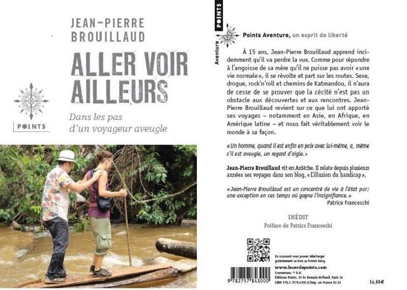 Couverture et quatrième de couverture du livre Aller voir ailleurs de Jean-Pierre Brouillaud