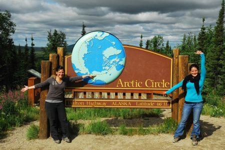 Marion et Amélie Laurin au cercle Arctique en Alaska
