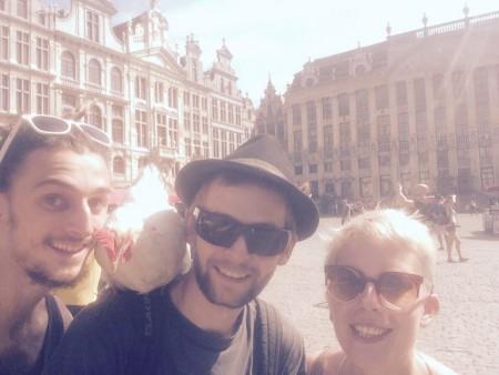 Sur la Grande Place de Bruxelles