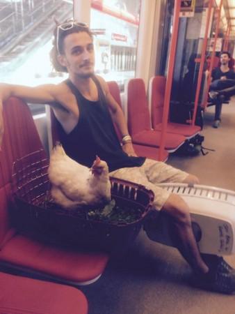 Dans le tram à Prague