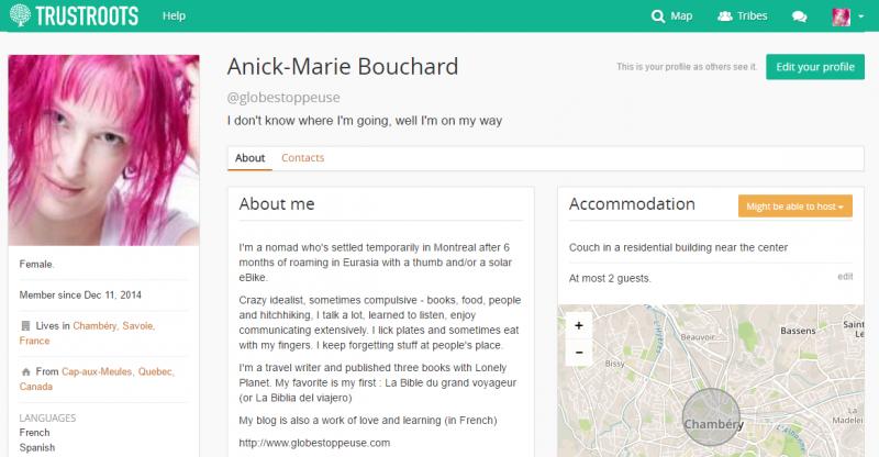 trustroots-profil